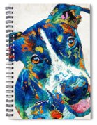 Colorful Dog Art - Happy Go Lucky - By Sharon Cummings Spiral Notebook