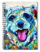 Colorful Dog Art - Smile - By Sharon Cummings Spiral Notebook
