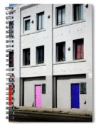 Colorful Doors- By Linda Woods Spiral Notebook