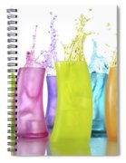 Colorful Drink Splashing From Glasses Spiral Notebook