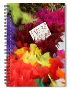 Colorful Easter Feathers Spiral Notebook
