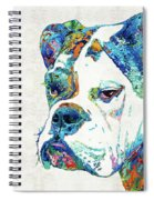 Colorful English Bulldog Art By Sharon Cummings Spiral Notebook