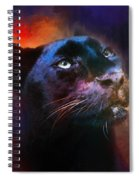 Colorful Expressions Black Leopard Spiral Notebook