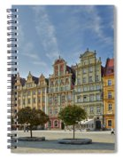 colorful facades on Market Square or Ryneck of Wroclaw Spiral Notebook
