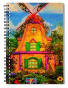 Colorful Fantasy Windmill Spiral Notebook