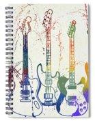 Colorful Fender Guitars Paint Splatter Spiral Notebook
