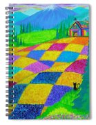 Colorful Fields Spiral Notebook
