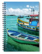 Colorful Fishing Boats Spiral Notebook