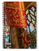 Colorful Flags And Stained Glasss Windows Spiral Notebook