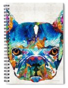 Colorful French Bulldog Dog Art By Sharon Cummings Spiral Notebook