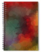Colorful Geometric Pattern Abstract Art Spiral Notebook