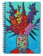 Colorful Gladiolus Spiral Notebook