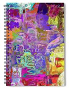 Colorful Glass Bottles Abstract Spiral Notebook