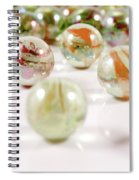 Colorful Glass Marbles Close-up Views Spiral Notebook