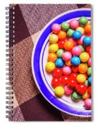 Colorful Gumballs On Plate Spiral Notebook