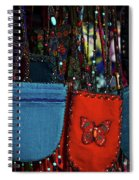 Colorful Hanging Pouches Spiral Notebook