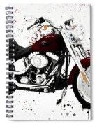 Colorful Harley Davidson Paint Splatter Spiral Notebook