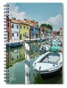 Colorful Homes Of Burano Spiral Notebook