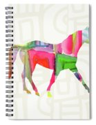 Colorful Horse 1- Art By Linda Woods Spiral Notebook