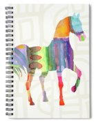 Colorful Horse 3- Art By Linda Woods Spiral Notebook