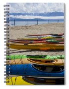 Colorful Kayaks Spiral Notebook