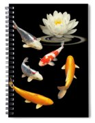 Colorful Koi With Water Lily Spiral Notebook