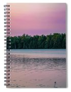 Colorful Lake-side Sunset Spiral Notebook