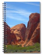 Colorful Landscape Rock Mountains Of Overton Nevada  Spiral Notebook