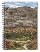 Colorful Layered Mountains  Spiral Notebook