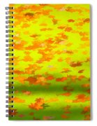 Colorful Leaves On Canal Spiral Notebook