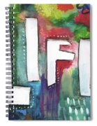 Colorful Life- Art By Linda Woods Spiral Notebook