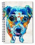 Colorful Little Dog Pop Art By Sharon Cummings Spiral Notebook