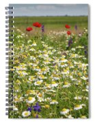 Colorful Meadow With Wild Flowers Spiral Notebook
