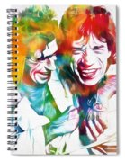Colorful Mick And Keith Spiral Notebook