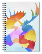 Colorful Moose Head Spiral Notebook