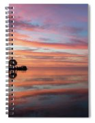 Colorful Morning Mirror - Spectacular Sky Reflections At Dawn Spiral Notebook