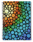 Colorful Mosaic Art - Blissful Spiral Notebook