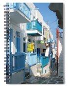 Colorful Mykonos Spiral Notebook