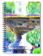 Colorful New Orleans Fountain Spiral Notebook