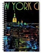 Colorful New York City Skyline Spiral Notebook
