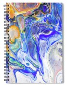 Colorful Night Dreams 5. Abstract Fluid Acrylic Painting Spiral Notebook