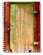 Colorful Old Barn Wood Door Spiral Notebook