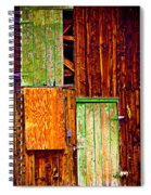 Colorful Old Barn Wood Spiral Notebook