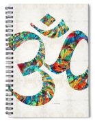 Colorful Om Symbol - Sharon Cummings Spiral Notebook
