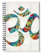 Colorful Om Symbol - Sharon Cummings Spiral Notebook