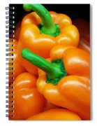 Colorful Orange Bell Peppers Spiral Notebook