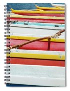 Colorful Outrigger Canoes Spiral Notebook
