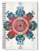 Colorful Pattern Art - Color Fusion Design 3 By Sharon Cummings Spiral Notebook