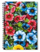 Colorful Petunias 2 Spiral Notebook