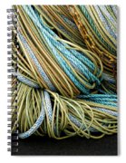 Colorful Pile Of Fishing Nets And Ropes Spiral Notebook